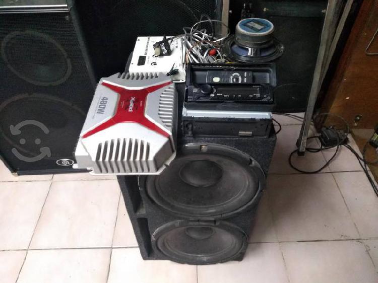 equipo de audio para carro completo