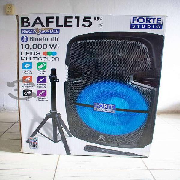 Bocina Bluetooth 15 Recargable Usb Sd Fm Luz Tripi