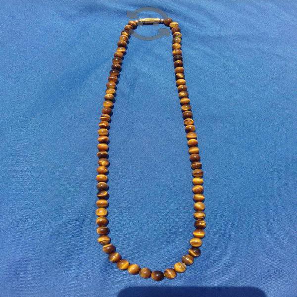 Collar de Ojo de Tigre Mide 48cm Cuentas de 6mm
