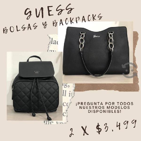 GUESS Pack 2 x $3,499 Bolsas y Backpacks