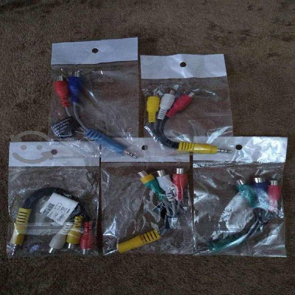 Lote de 5 cables adaptadores Av vídeo para pantall
