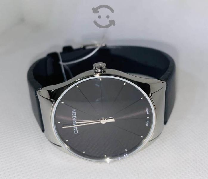 Reloj Calvin Klein Negro Piel NUEVO SWISS