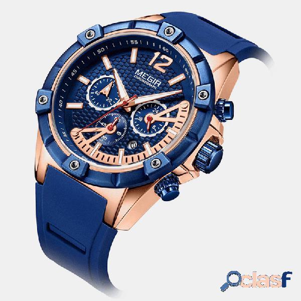Reloj deportivo de estilo deportivo para hombres Silicona
