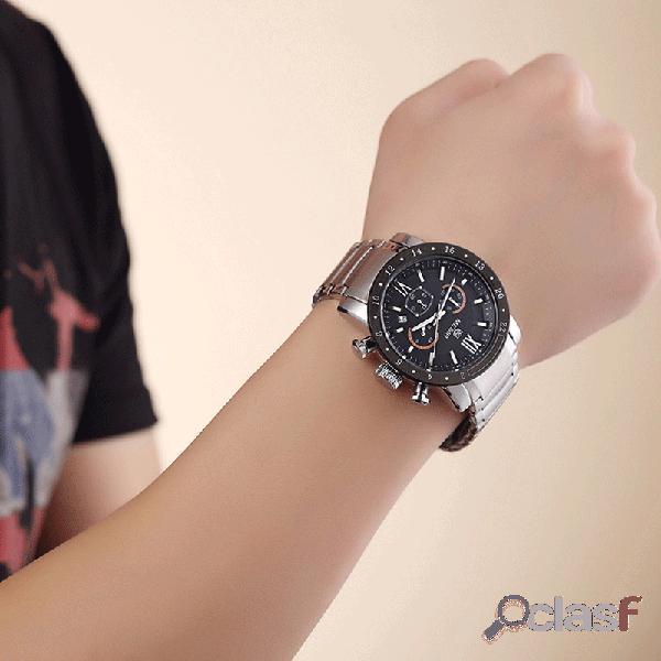 Reloj deportivo de moda para hombre de acero inoxidable