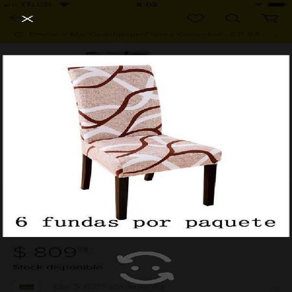 6 fundas nuevas para silla de comedor