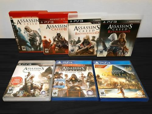 7 Juegos Assassins Creed | Ps3 Ps4 | Seminuevos