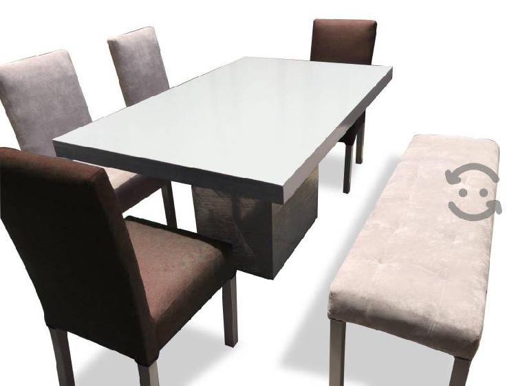 Comedor para 6 personas sillas tapizadas