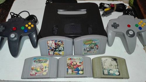 Consola Nintendo 64 Con 5 Juegos Juegos