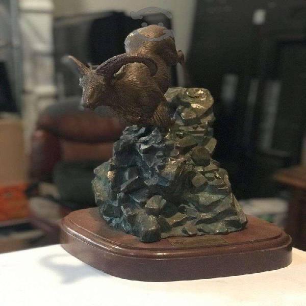 Escultura de Bronce Barbary Sheep (Bronce)