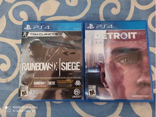 Juegos De Play 4: Rainbow Six Y Detroit Por Los Dos Juegos