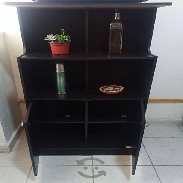 Mueble para cocina con base para microoondas