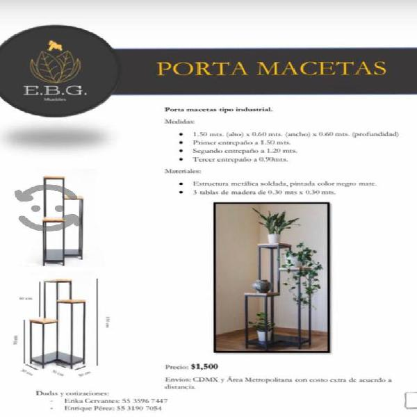 Muebles tipo industrial