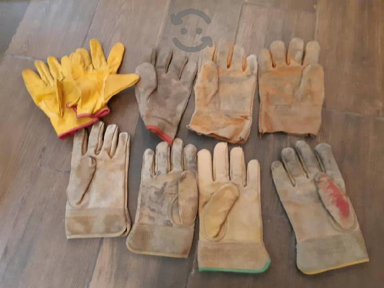 lote de guantes carnaza usados