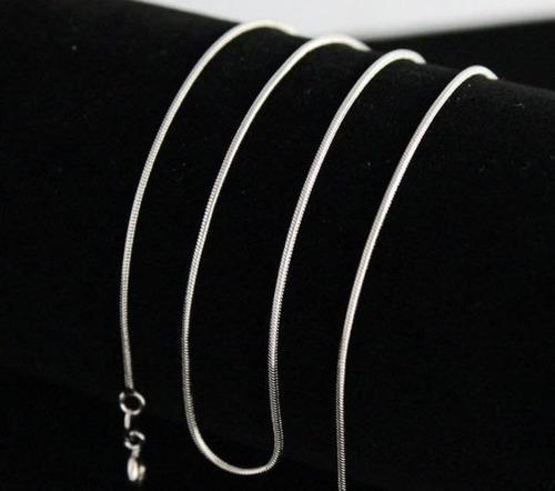 10 Collares De Cadena De Serpiente De Plata Para Hombre Y Mu