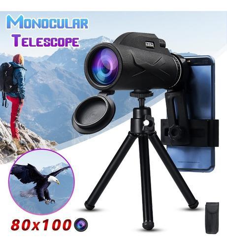 80x100 50x60 Portátil Ampliación Telescopio Monocular Zoom