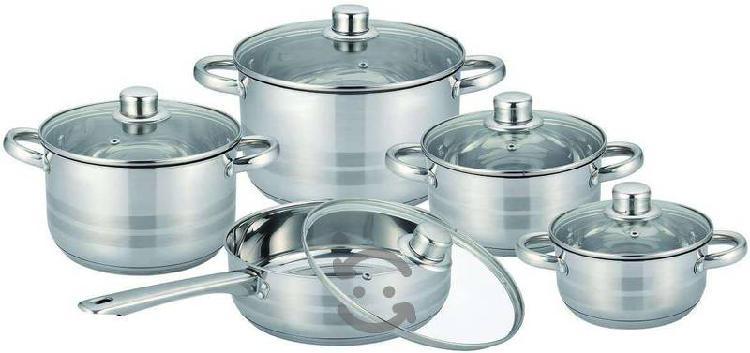 Batería de cocina de acero inox 10 piezas YAJAD