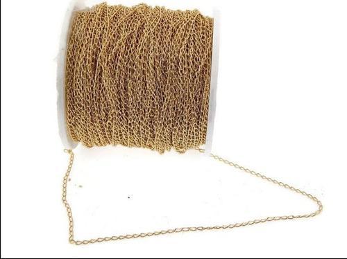 Cadena En Chapa De Oro 14k Para Armar Bisuteria 10 Gr