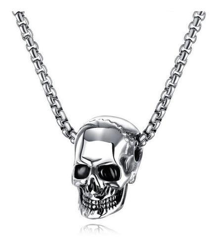 Collar Acero Titanio Inoxidable C913 Cráneo Calavera Santa