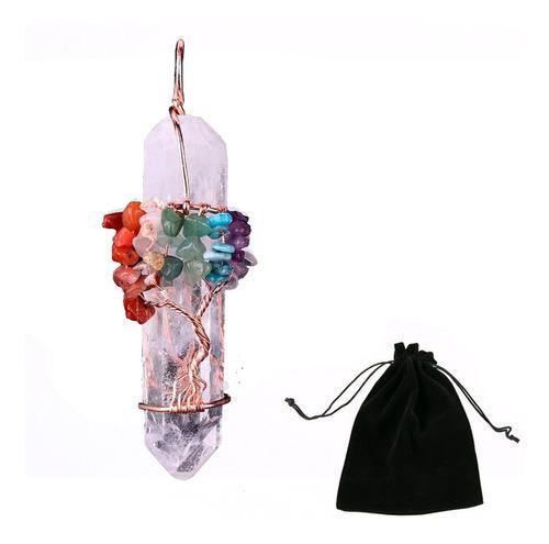 Collar Arbol De Vida 7 Chakras Cristal Cuarzo Natural Yoga
