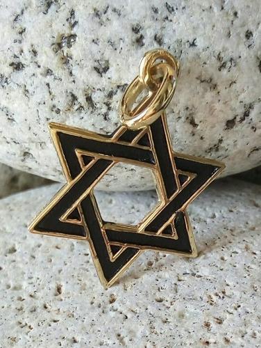 Dije Estrella De David Chapa De Oro 22k Esoterico Ritual