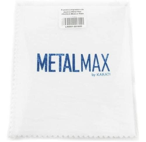 Franela Limpiadora De Joyería Metal Max Blanco Mate 29x24