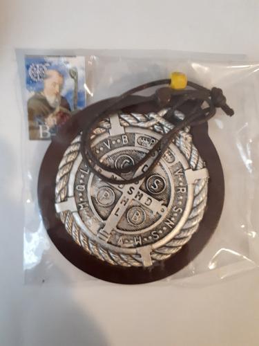 Medalla San Benito Para Puerta De Madera Y Metal