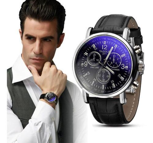 Moda De Lujo Cocodrilo Imitación Cuero Para Hombre Reloj An
