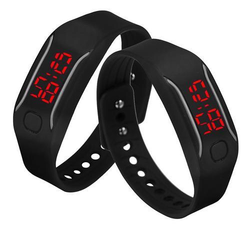 Reloj De Pulsera Digital Para Hombre Y Mujer, Silicona, Led,