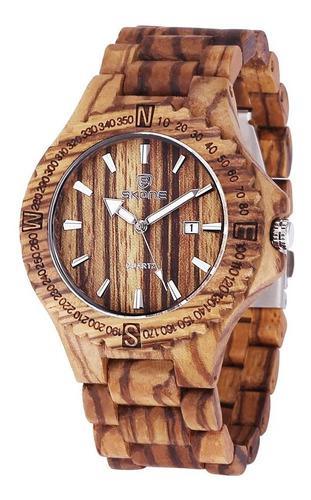Reloj De Pulsera Unisex De Madera Exquisita Para Hombre Simp