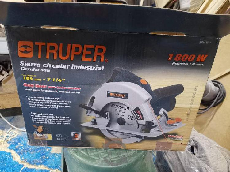 Sierra circular Truper, 1800w, 7 1/4, laser