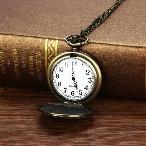 Vintage Cadena Retro El Más Grande Reloj De Bolsillo Collar