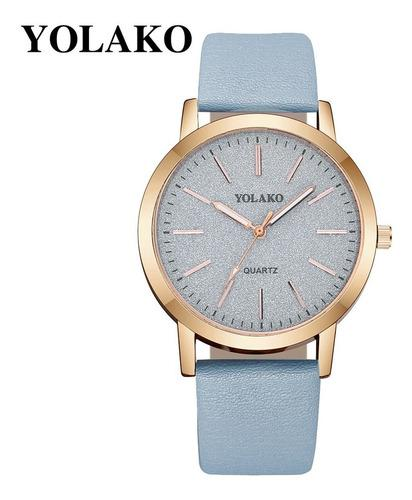 Yolako - Reloj Analógico Para Mujer (cuarzo, Correa De Cuer