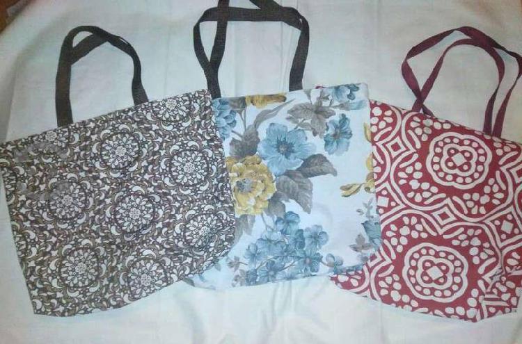 3 bolsas de loneta nuevas