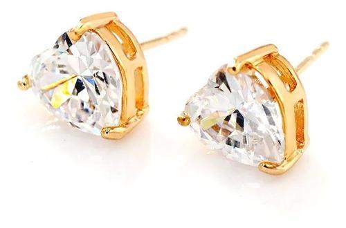 Aretes De Diamante 7.5 Cz De Pureza Oro Blanco Lam. 18k