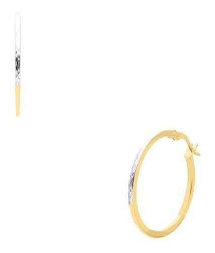 Arracadas Bizzarro Oro Amarillo Con Platinado 14k-00020y