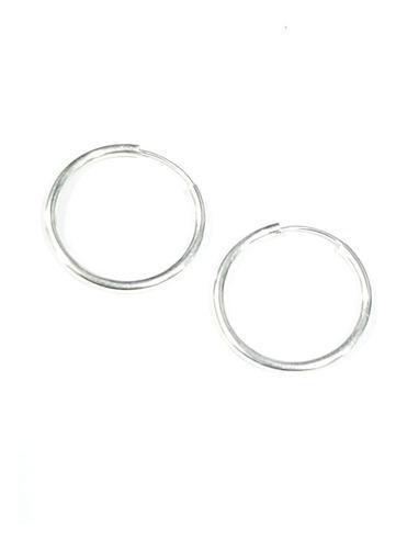 Arracadas Plata De 1mm Ancho Y 1.5 Cm Diametro +estuche A11