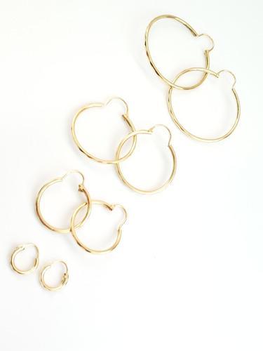 Arracadas Set De 4 Pz En Diferentes Tamaños De Oro Laminado