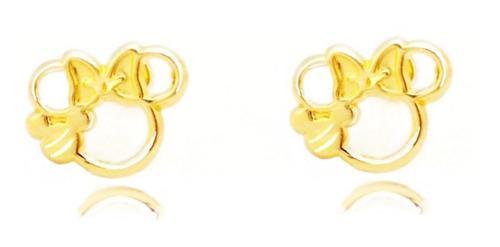 Broqueles De Minnie En Oro Sólido 10 Kilates.