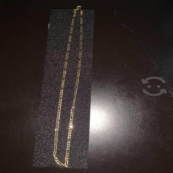 Cadena de oro y acero inoxidable 45 cm