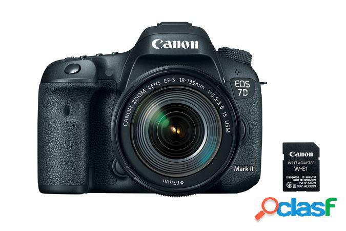Cámara Reflex Canon EOS 7D Mark II, 20.2MP, Cuerpo + Lente