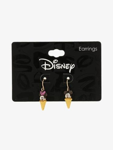 Mickey Mouse Y Minnie Mouse Aretes Colgantes De Helado