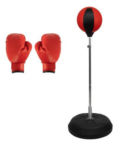 Pera Loca Boxeo Con Base Altura Ajustable Entrenamiento Box