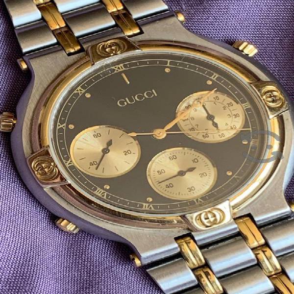 Reloj Gucci original acero y chapa de oro de 18 k