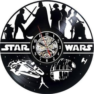 Reloj De Pared Star Wars Modelo 6 Acetato Vinilo Vinil