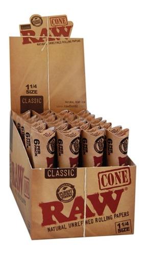 Caja De Conos Raw Pre Rolados Con 32 Paquetes De 6 Cono C/u