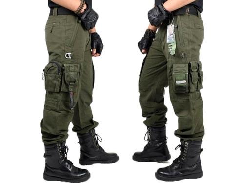 Pantalón Táctico Militar Tipo Cargo Policia Senderismo