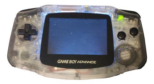 Gameboy Advance Frontlight Trasparente Botones Negros