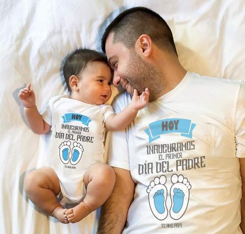Playeras Primer Dia Del Padre. Papá Y Bebe Hijo Niño Niña