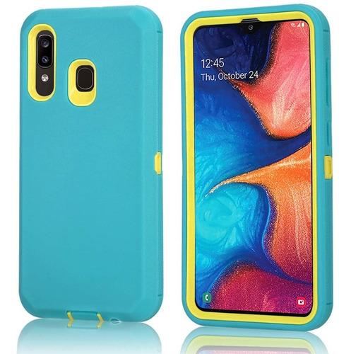 Funda De Uso Rudo 3 En 1 Para Samsung Galaxy A20 / A30