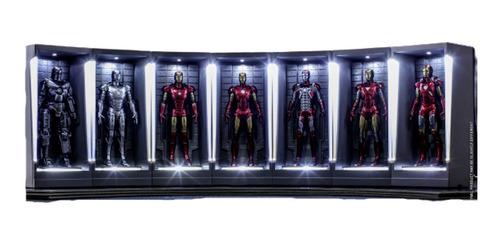 Iron Man I-vii Hall Of Armor Miniaturas 7 Piezas Hot Toys